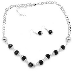 5th Avenue Black Necklace K2 P2120-3