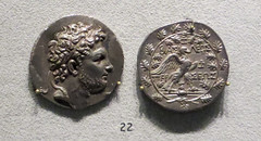 IMG_6686-2 (jaglazier) Tags: november berlin men art archaeology birds animals writing portraits silver germany greek oak coins crafts religion beards macedonia kings gods classical altesmuseum museums wreaths adults inscriptions eagles bearded perseus rulers rituals metalworking coinage hellenistic 2014 thunderbolts grecoroman macedonian numismatics 3rdcenturybc classicalarchaeology 113014 diadems copyright2014jamesaglazier antigonid