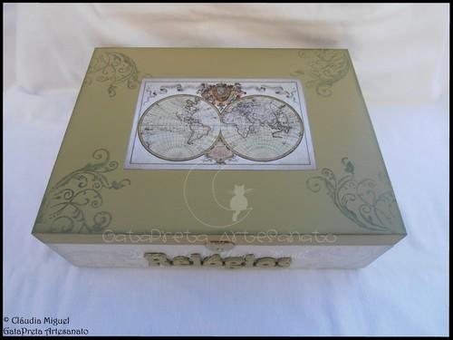 """Caixa para 12 relógios """"Mappe Monde"""""""