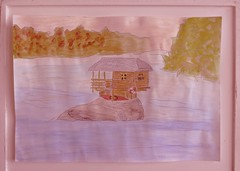 River-House (Frizztext) Tags: house river drawing sketchbook watercolors frizztext irenebecker