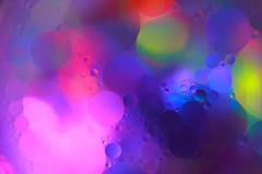 Bubble Bobble 11/365 (explored) (FadeToBlackLP) Tags: abstract macro water beautiful canon rainbow exposure bokeh circles creative 11 expose ring bubble oil 365 colourful tamron tabletop bobble lightart lightartist