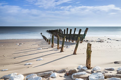 Groynes - Spurn Head (Draws_With_Light) Tags: winter sea beach water season landscape structures places scene coastline filters groynes spurnhead lee09ndhardgrad leebigstopper