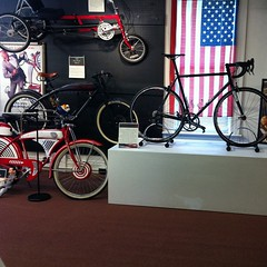 TBT That time when my personal road bike sat next to Pee Wee Herman's at the Bicycle Museum of America 03/23/13 #weavercycleworks #custombicycles #bicyclemuseumofamerics