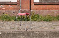 Please take a seat #455 (sterreich_ungern) Tags: street city plants berlin abandoned broken lost spring wand seat plastic battered ziegel hocker guesswhereberlin