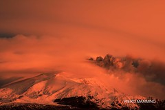 Etna_snow clouds dust and sunrise (piero.mammino) Tags: sky cloud snow volcano nuvola neve sicily dust etna eruption sicilia vulcano eruzione