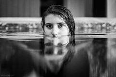 Morgane (Jehan Jessel) Tags: portrait blackandwhite water girl monochrome photo women underwater noiretblanc femme naturallight piscine modele lumirenaturelle modle canon5dii