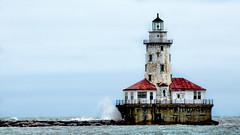 Chicago Harbor Lighthouse (Miradortigre) Tags: usa lighthouse lake chicago faro lago illinois nikon michigan d7100
