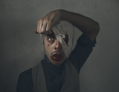 """What's Underneath"" (Kavan The Kid) Tags: portrait art strange beauty self dark dead photography death kid pain scary blood mask fine evil surreal underneath kavan"