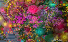 Glowing (brillianthues) Tags: flowers floral collage photoshop photography colorful glow fractal photmanuplation