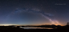 In a galaxy far far away... (pauls1502) Tags: sky mountain mountains night reflections dark stars scotland twilight sigma wideangle panoramic nightsky moor moorland milkyway rannochmoor scottishhighlands lochba lochannahachlaise