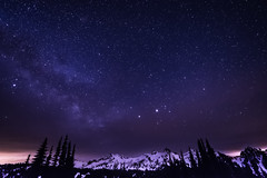 Starry Night (TroyMason) Tags: trees snow castle nature forest stars wonder paradise astrophotography mountrainier mountrainiernationalpark mountaineering portfolio mtrainier tatoosh pinnaclepeak unicornpeak deadhorsecreek tacomamountaineers troymasonphotographycom winterovernight