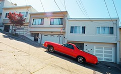 Uphill in the sun (Robert Ogilvie) Tags: chevrolet elcamino foundinsf gwsf