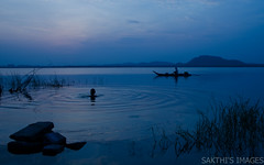 Before Sunrise (sakthi vinodhini) Tags: sun india lake sunrise fishing fishermen tamil nadu cwc chengalpet kolavai cwc530