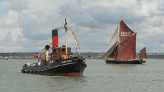Steam and Sail (Eddie Hyde) Tags: thames barges racing sailing thamesestuary