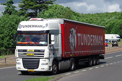 Tunderman DAF XF BZ-PS-09 on the A90, Dundee 20/6/16 (andyflyer) Tags: transport lorry a90 haulage hgv roadtransport dafxf tunderman bzps09