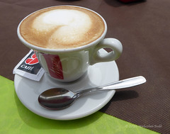 Cappuccino (Malcolm Bull) Tags: italy cup coffee italian cappuccino 20160614compact0001edited1web