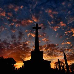 The war memorial (ccgd) Tags: sunset scotland highlands cross ww2 ww1 cromarty gloaming