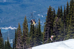 3-2-1-Launch! (WarpFactorEnterprises) Tags: mountain snow ski canon whistler snowboarder chairlift t4i spring2016