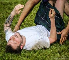 Grounded ! (FotoFling Scotland) Tags: scotland kilt argyll event wrestler lochlomond highlandgames kilted luss scottcarson scottishwrestlingbond wrestlingbond lusshighlandgames lussgathering