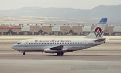"Boeing, 737-2E3, N138AW, ""America West"", KLAS, Las Vegas, USA (Daryl Chapman Photography) Tags: las usa america plane canon hp lasvegas aircraft aviation lad boeing uc awe klas 737 americawest lco 732 887 22792 ladeco n138aw 7372e3"