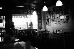 Facing ups and downs in the crowds of people at one person only. (IAN TSE) Tags: people downs lomography coffeeshop ups ql17 crowds facing blockwhite