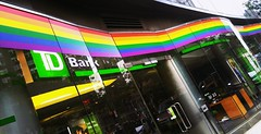 . (SA_Steve) Tags: nyc newyork color colour rainbow westvillage bank pride lgbt equality tdbank coloful prideweek lgbtq