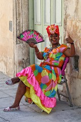 classic Cuba (s@ssyl@ssy) Tags: cuba havana lady colour colourful bright bold colours cigar classic cliche stereotypical seat sit 100x