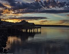 Anthony's Sunset (mjardeen) Tags: sunset cloud color texture mamiya colors reflections washington pattern 55mm m42 wa tacoma cloudporn on1 ptdefiance sekor 18 on1effects10 mamiyasekor55mm18