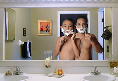 I don't want my children to be what I want them to be. I want them to become everything God created them to be. ~Jon Gordon (maraculio) Tags: father son shave likefatherlikeson shavingcream shavingfoam