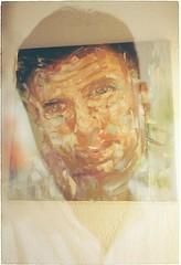 Potrait (LinkFox) Tags: mate bro oil painting doubleexposure film nikon kodak outdate potrait