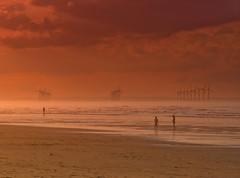 The Windmills of my mind. (paul downing) Tags: pauldowning pd1001 pauldowningphotography nikon d7200 saltburnbythesea sunset redcar windfarm windmill beach northsea northyorkshire hitech gnd 12 filters