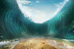 The seas are being parted (lisame0511) Tags: wave backgroundwaves background underwater abstract beach ocean sand bottom clouds crack crash death destruction escape high land moses part pass sea surreal swim travel tsunami voyage walk wall water ukraine