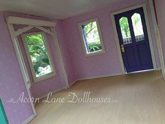 IMG_0405 (AcornLaneDollhouses) Tags: westville greenleaf dollhouse handcrafted finished interior wallpaper custom trim