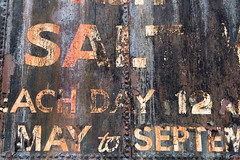 Lion salt works sign 02 aug 16 (Shaun the grime lover) Tags: cheshire marston northwich lionsaltworks salt industrial rusty sign iron tank painted