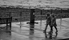 2016_223 (explored) (Chilanga Cement) Tags: nikon nik rain oban weather reflection sea coast bw blackandwhite