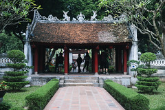 Temple of Literature (desomnis) Tags: hanoi vietnam northvietnam temple templeofliterature asia southeastasia confucius old oldbuilding historicalbuilding traveling travel travelphotography spiritual pagoda green trees desomnis canon6d tamronsp2470mmf28