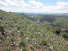 Rocky slope above the canyon, Uvac Nature Reserve, Serbia (Paul McClure DC) Tags: uvac naturereserve serbia srbija zlatibor may2016 vidikovac sjenica druinie scenery river canyon