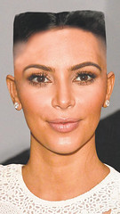 Kim Kardashian in Kim Jong haircut (marisabuffagni) Tags: kim kris khloe kourtney kardashian jenner bald buzzed tonsured wig shaved scalp smooth bare liscia pelata calva rasata rapata tosata zero pomo clipper macchinetta capelli stile style hairstyle hayrlook look eyebrow eyebrows sopraciglie depilate depilata ceretta wax waxed