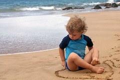Meditation, ocean (Gordana AM) Tags: wwwgordanaphotocom gordanamladenovic gordana photography photographer photo portcoquitlam bc britishcolumbia vancouver lowermainland canada lepiafgeo ocaen boy child toddler contact immersion nature sandy sand beach waves coming rocks maui hawaii summer august 2016 quiet solitude concentration sensory play children