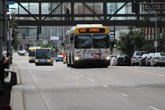 PM Rush in Downtown Minneapolis (kenny0528) Tags: newflyer gillig newflyerarticulated articulated rushhour transit metrotransit bus busfan busspotting downtown minneapolis minnesota publictransit downtownminneapolis