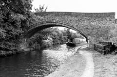 Bridgewater Canal (MCorrigan1983) Tags: jch400 streetpan 2016 bw dunhammassey jchstreepan400 nikkor50mmf14ais nikonfe2 bridge bridgewater canal