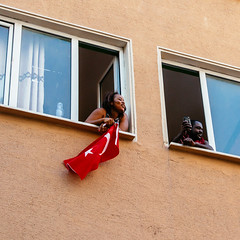 IMG_0676.JPG (esintu) Tags: window flag rally protest photojournalism yenikapi istanbul turkey