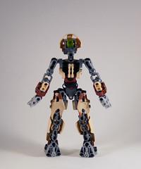 MOV - M'azzal - Back (0nuku) Tags: bionicle lego toa sand fire stone banserko mazzal scythe gunblade hau komau
