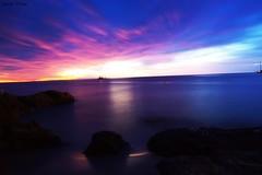 Cala Llentia (carlos.pazos12) Tags: ibiza isla agua larga exposicion aguas suaves piedras anochecer azul rojo angeles demonios