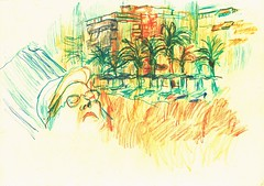 PROYECTO 132-59 (GARGABLE) Tags: angelbeltrn apuntes sketch lpicesdecolores drawings proyecto 132 64 todo varios variado dibujos gargable playa gente siesta sanjuan