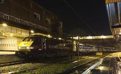 91101 York 16/11/2014 (Flash_3939) Tags: york uk november blue station set night train dark lights purple rail railway eastcoast allaboard flyingscotsman 2014 eastcoastmainline mk4 91101 ecml class91 skyhd 82216 bn25