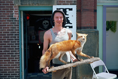 (patrickjoust) Tags: new england usa man color 120 film me tattoo analog america standing lens dead us stuffed focus mechanical united north maine patrick rangefinder belfast negative fox 6x9 medium format states manual joust 90mm fujinon parlor estados f35 c41 filmphotography unidos originalphotography autaut kodakektar100 patrickjoust fujicagw690 photographersontumblr