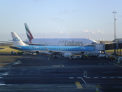 Embraer 190, PH-EZF, KLM (cessna152towser) Tags: newcastle emirates klm embraer boeing777
