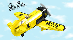 Main - LEGO Ideas Gee Bee Z (buggyirk) Tags: usa yellow digital race speed plane airplane flying 3d lego brothers designer granville render aircraft massachusetts great super disney retro bee depression record trophy springfield z minifig gee ideas propeller thompson pilot prop speedster racer lowell rocketeer winger minifigure the moc afol ldd bayles cuusoo buggyirk