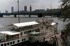 Old Caledonia  moored on the Thames . May74. (David Christie 14) Tags: london thames caledonia